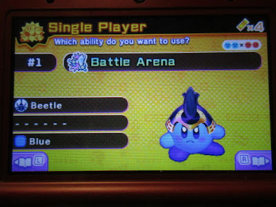 Kirby Battle Royale Blue Beetle arena
