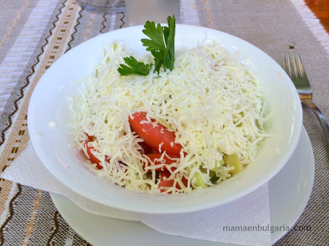 Ensalada Shopska (Shopska salata) Bulgaria