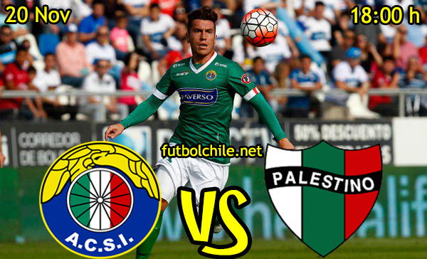 Ver stream hd youtube facebook movil android ios iphone table ipad windows mac linux resultado en vivo, online: Audax Italiano vs Palestino
