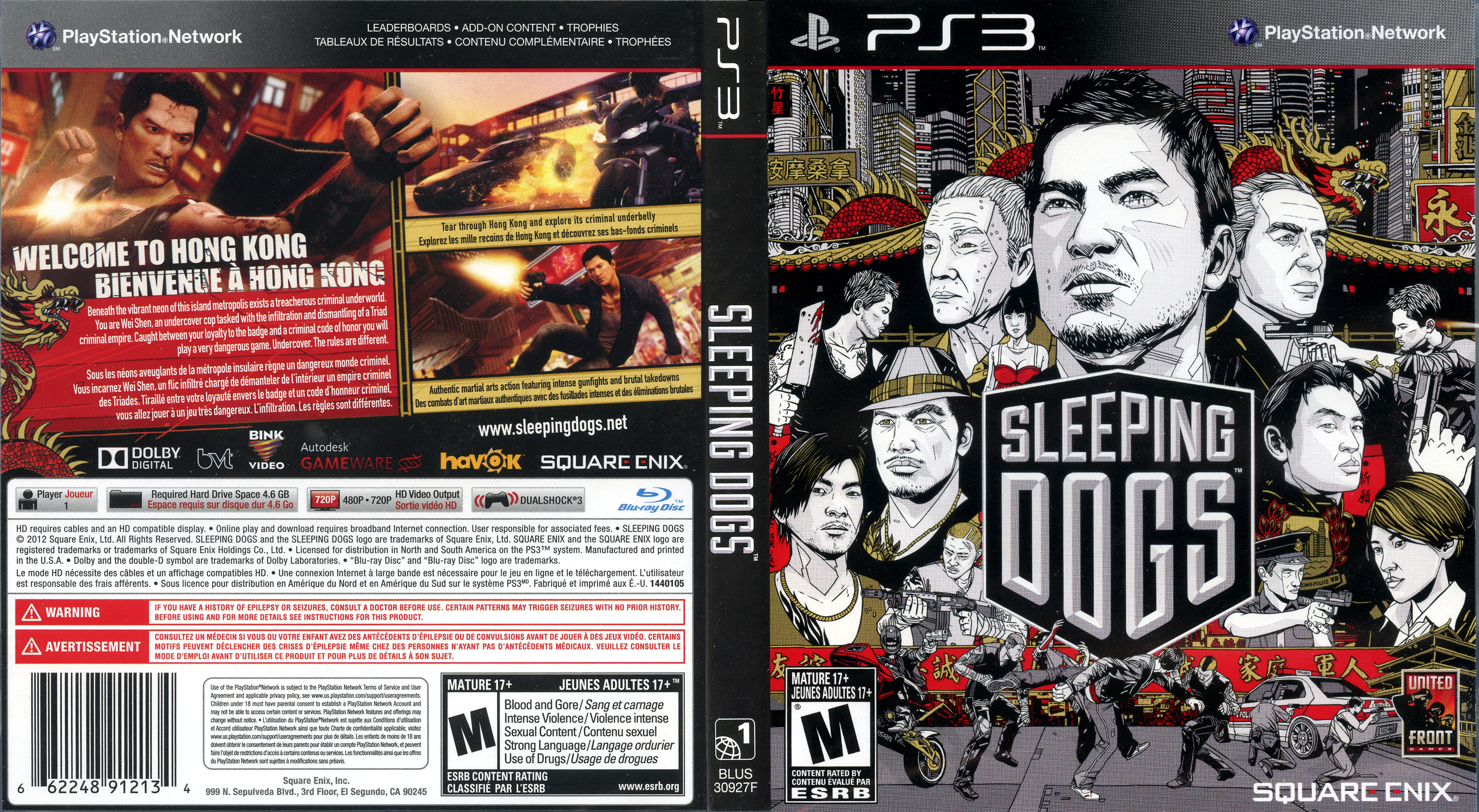 Capa Sleeping Dogs PS3