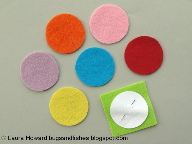 cutting out felt circles