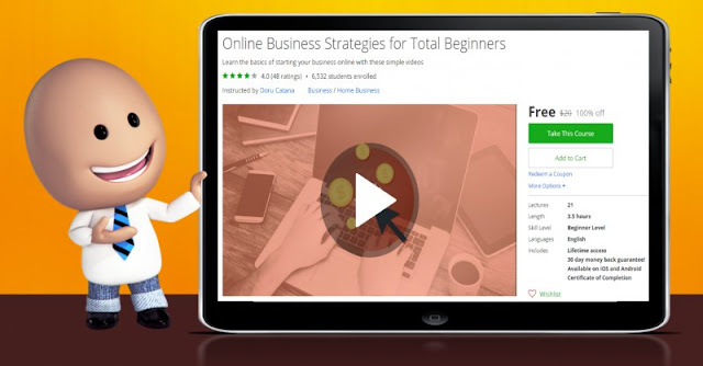 [100% Off] Online Business Strategies for Total Beginners| Worth 20$