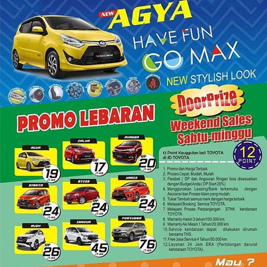 Promo Lebaran Toyota Bumi Serpong Damai Tangerang