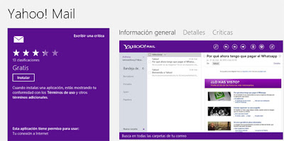 yahoo mail windows 8