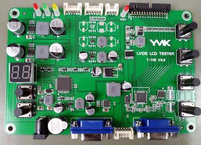 Placa do testador de TV LCD