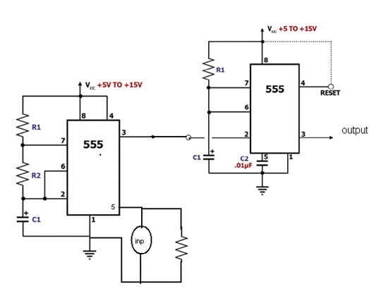 ppm circuit diagram using 555 timer
