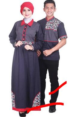 baju muslim couple modern murah
