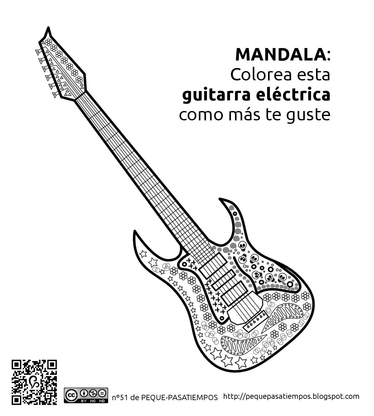 Peque-pasatiempos: Guitarra Eléctrica - PEQUE-PASATIEMPOS nº51