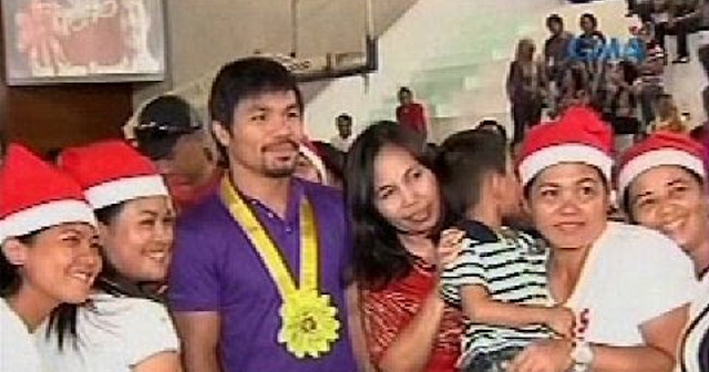 Manny Pacquiao Gives P3-Million Worth Of Christmas Gifts To People