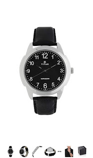 Titan black analog men's watches