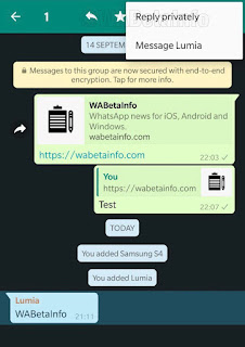 """WhatsApp is adding """"Private Replies"""" for group chats on Android  revealed by WABetaInfo, freedygist.com.ng"""