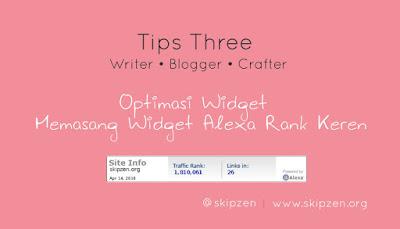Cara Memasang Widget Alexa Rank Menarik Di Blog
