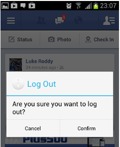 How to Logout of Facebook on Your Android Phone in 2017