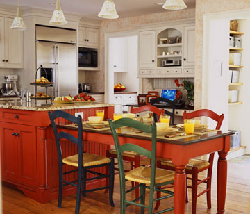 Kitchen island design ideas home appliance - Kitchen island with table attached ...