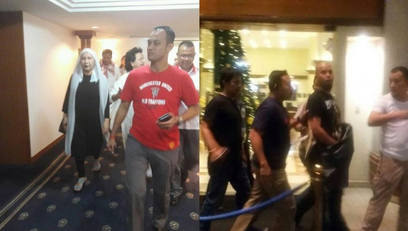 Ahmad Dhani-Ratna Sarumpaet ditangkap sehotel