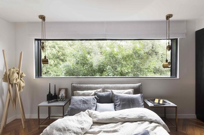 Thiết kế nội thất căn hộ chung cư 150m2 với hai màu đen trắng- 10
