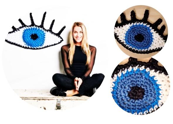 ojo turco, crochet, patrones ganchillo, amuletos tejidos