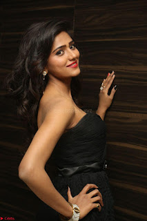 Shalu Chourasiya in spicy Sleeveless Strapless Black Top at O Pilla Nee Valla Movie Audio Launch Feb 2017 114.JPG