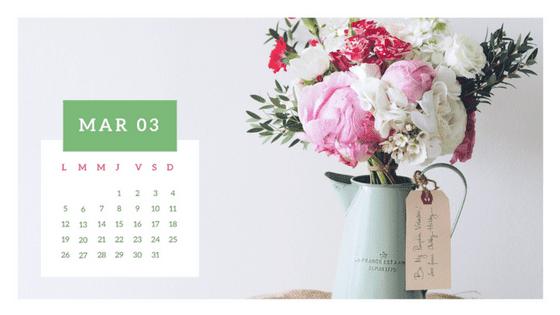 calendario wallpaper 2018 marzo gratis para descargar y poner bonito tu fondo de escritorio