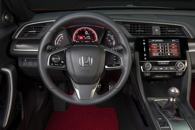 Novo Honda Civic Si 2017 - interior