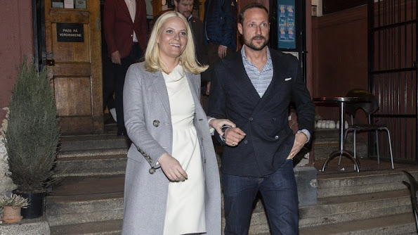 "Princess Mette-Marit and Prince Haakon of Norway attended opening of the ""New models, season 2"" documentary series at the Park theater in Oslo"