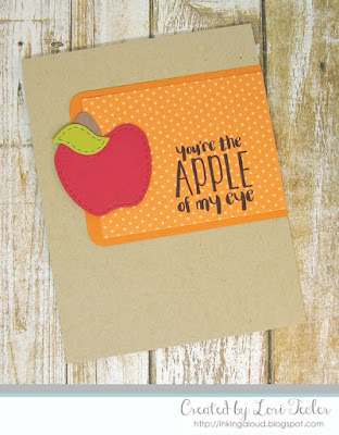 Apple of My Eye card-designed by Lori Tecler/Inking Aloud-stamps and dies from Lil' Inker Designs