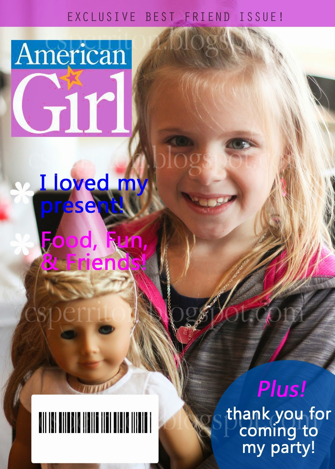 Go With The Flo American Girl Doll Birthday Party-8305