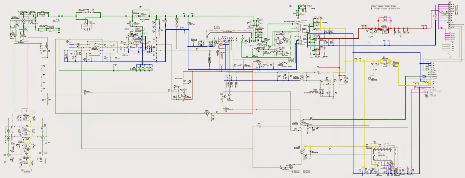 PANASONIC TCL42U30B LCD TV  POWER SUPPLY CIRCUIT DIAGRAM