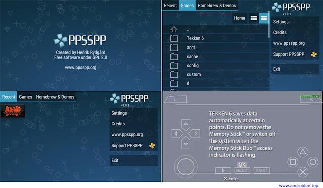 Gambar Langkah-langkah cara bermain game PSP di Android dengan PPSSPP Emulator