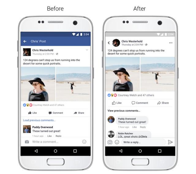 فيس بوك تتخلى عن اللون الأزرق