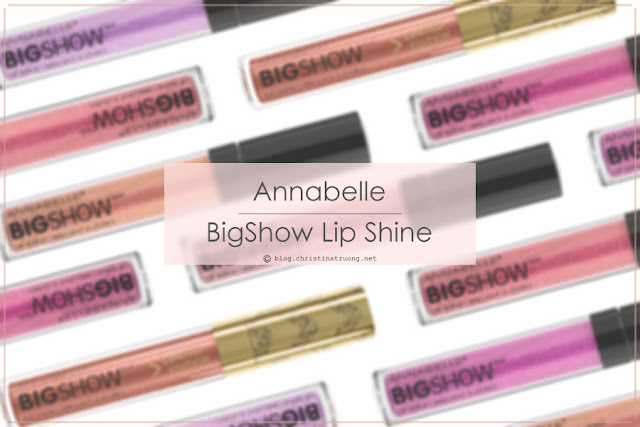 Annabelle Cosmetics BigShow Lip Shine in Rose Gold Review and Swatch