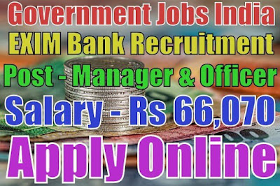 Export Import EXIM Bank of India Recruitment 2017