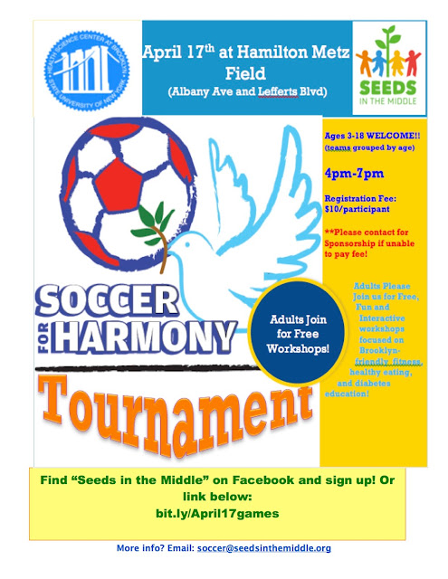 Soccer for Harmony Tournament - April 17 - For KIds! Sponsor a Child $10