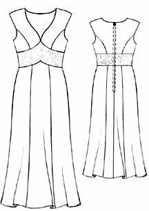 Patrones de vestidos de fiesta gorditas gratis