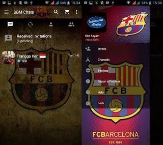 App BBM Mod Thema Klub Sepak Bola Terbaru