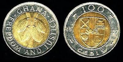Ghana 100 Cedis (1991,1997) 1999 Coin