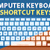 Important Computer Shortcut keys alphabets (ABC)
