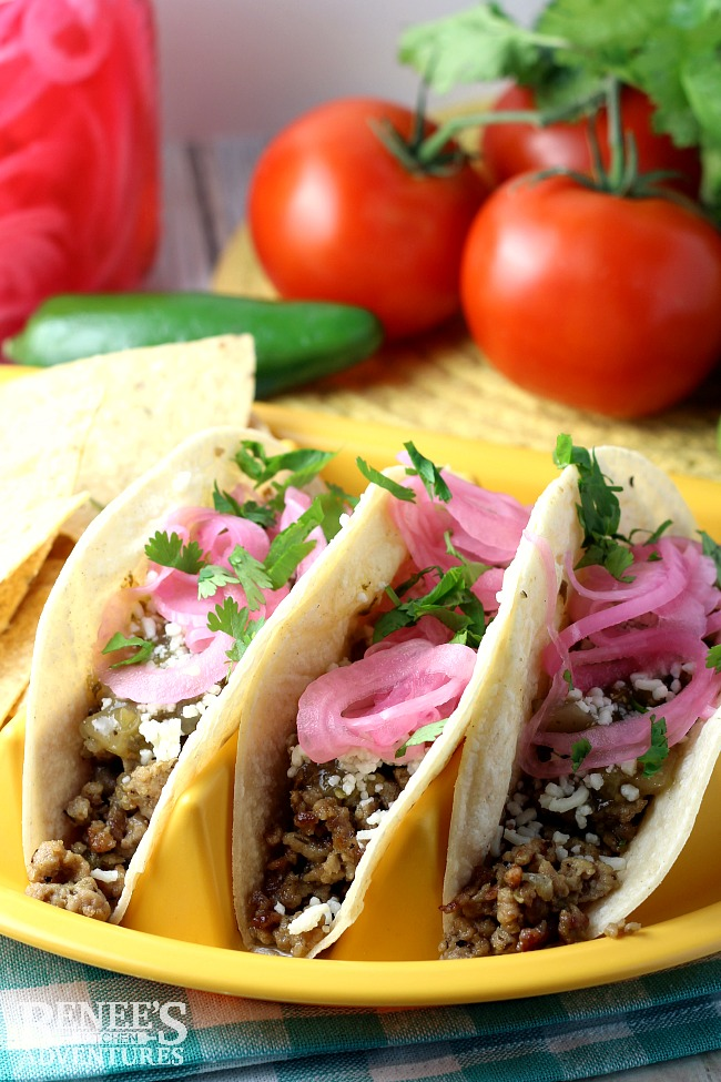 Ground Pork Carnitas Tacos | Renee's Kitchen Adventures
