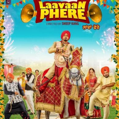 Laanvan Phere next upcoming punjabi movie first look, Poster of download first look Roshan Prince, Rubina Bajwa Poster, release date