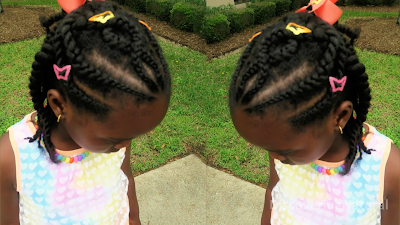 Criss Cross Cornrow Natural Hair Kids Hairstyle African Naturalistas