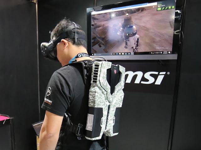 MSI  VR One backpack PC 東京電玩展實機體驗