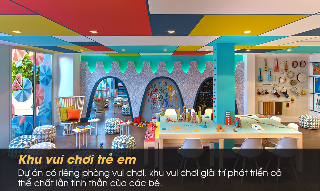 Khu vui chơi và học tập của con em cư dân tại chung cư Sunrise Complex Chu Văn An