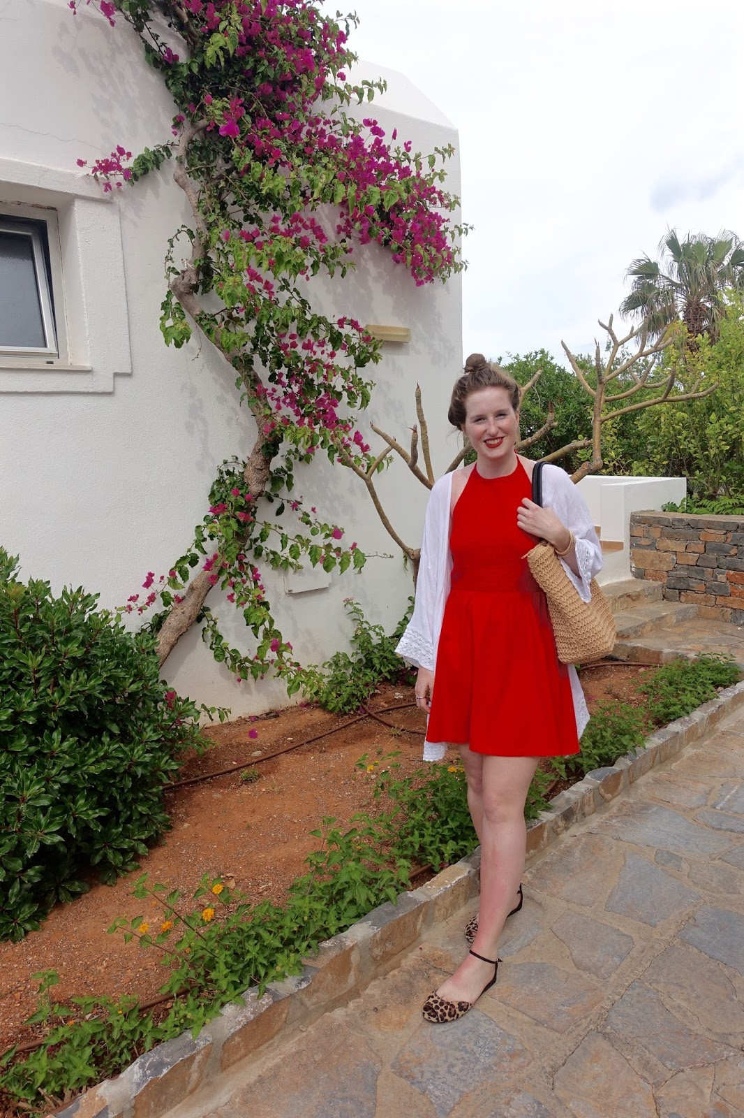 red sundress from ASOS