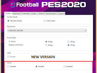 PES 2020 Setting.exe File Only
