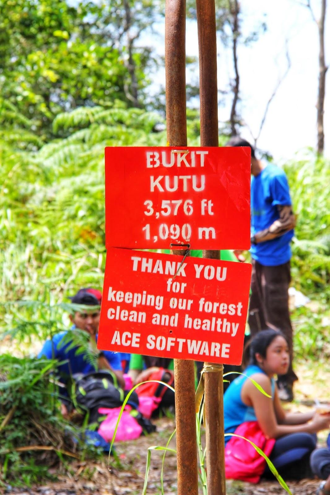 Ketinggian Bukit Kutu, Kuala Kubu Bharu
