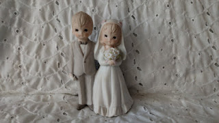 creepy vintage wedding cake topper