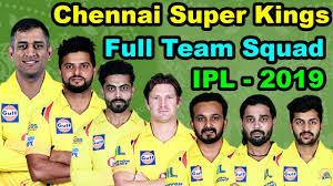 IPL 2019 CSK squad