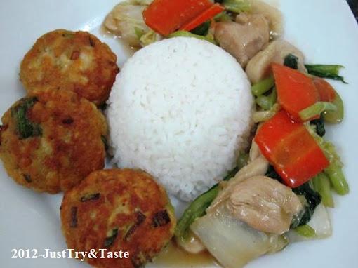 Resep Cap Cay Ayam dan Perkedel Tempe