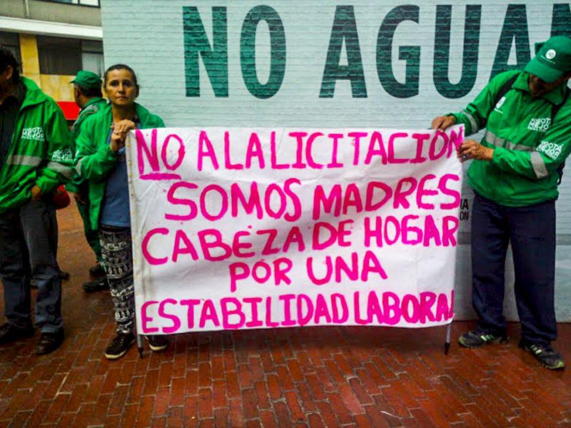 Sintratelefonos se solidariza con trabajadores del aseo de Bogotá