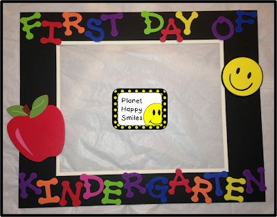 Planet Happy Smiles: First Day of School Frames